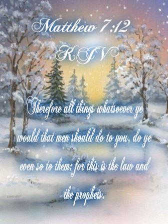 Matthew 7 12